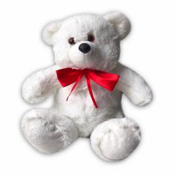 """""""Медвежонок белый с бантом"""" 32см."""